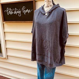 Barefoot dreams pullover hooded sweatshirt